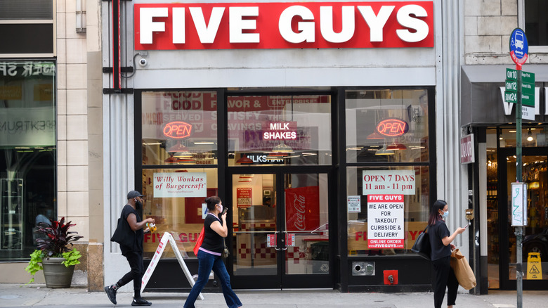 Five Guys Storefront in New York City