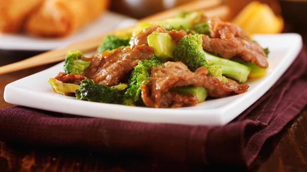 Chinese-style Orange beef