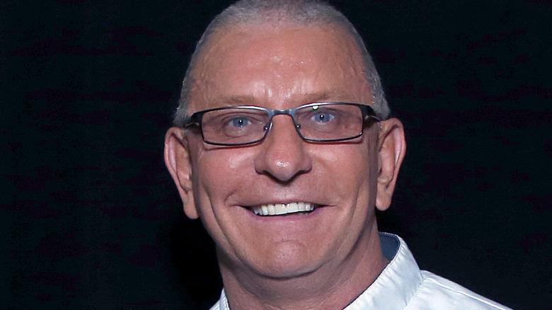 Robert Irvine in white chef's coat