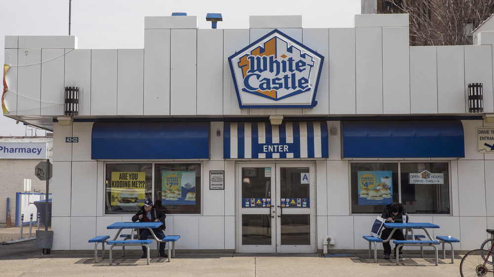 The exterior of a White Castle