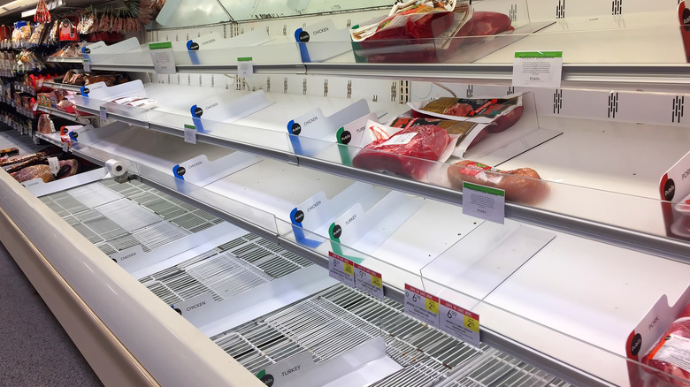 Lack of meat on store shelves