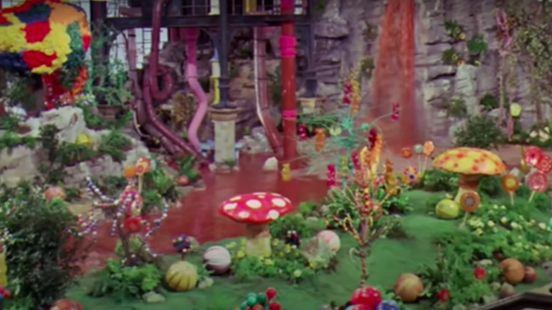 Willy Wonka's chocolate room