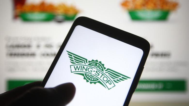 Wingstop order on app