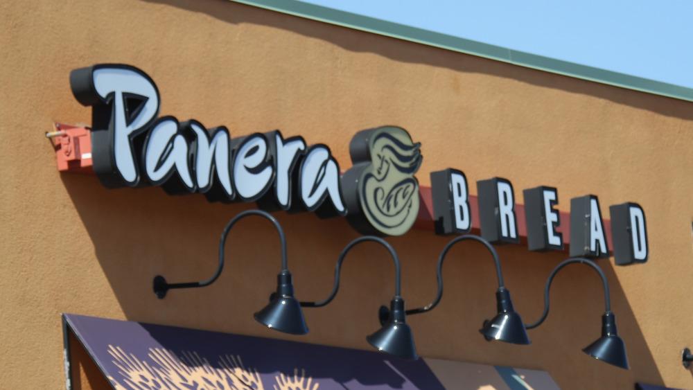 Panera Bread restaurant sign
