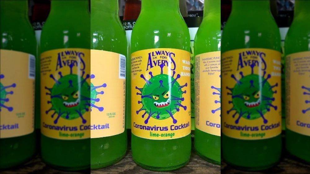 Coronavirus cocktail bottle