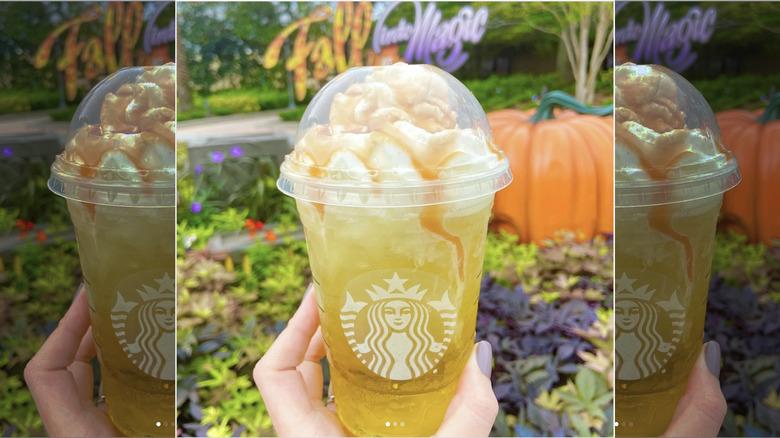 Starbucks Caramel Apple Delight Disney Springs