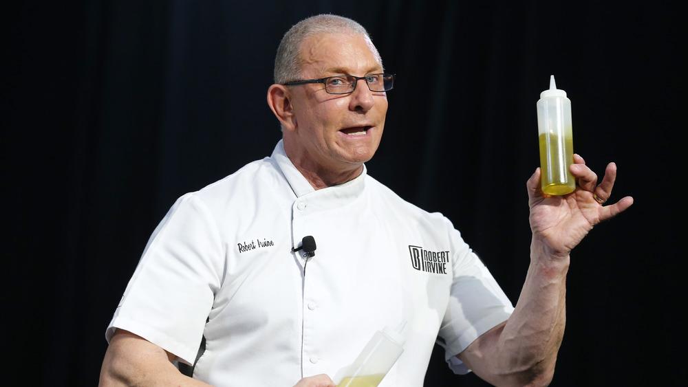 Robert Irvine in chef coat