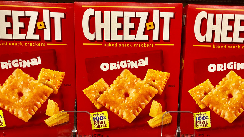 Cheez It Crackers in a box