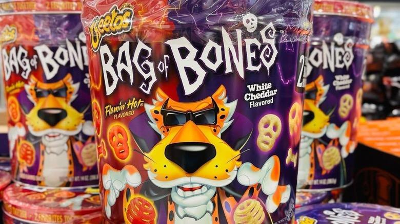 Tins of Cheetos Halloween snacks