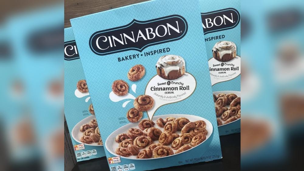 Cinnabon Cereal package