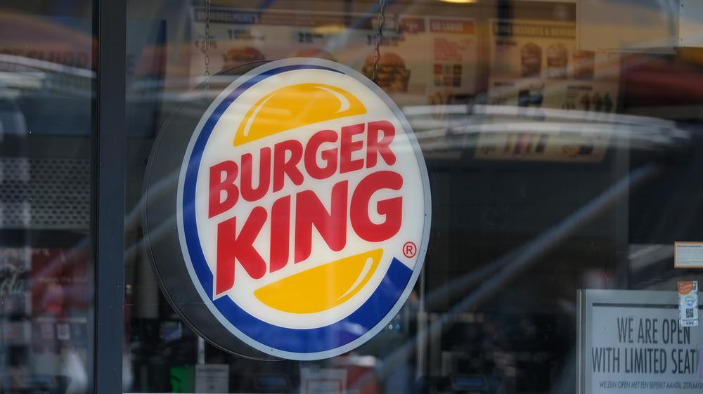 Outside of a Burger King restaurant