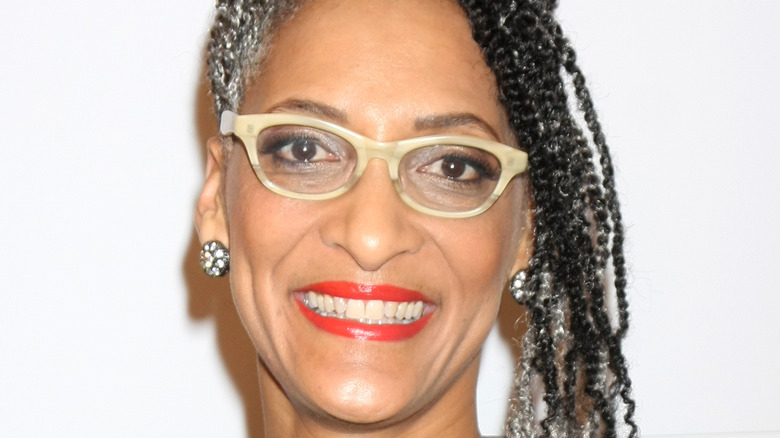 Chef Carla Hall against white background