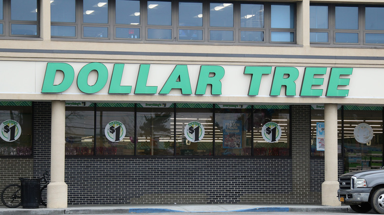 Outside of a Dollar Tree store