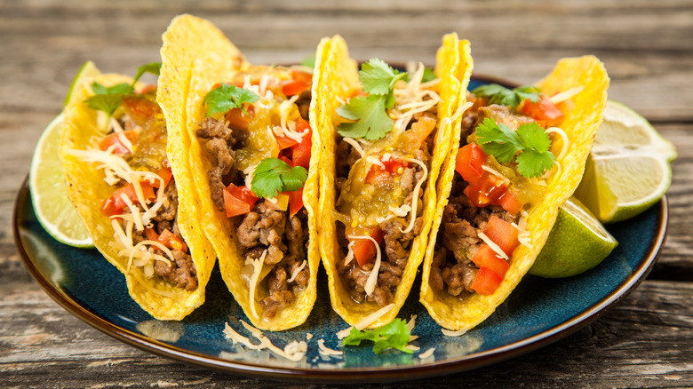 American-style tacos on a plate