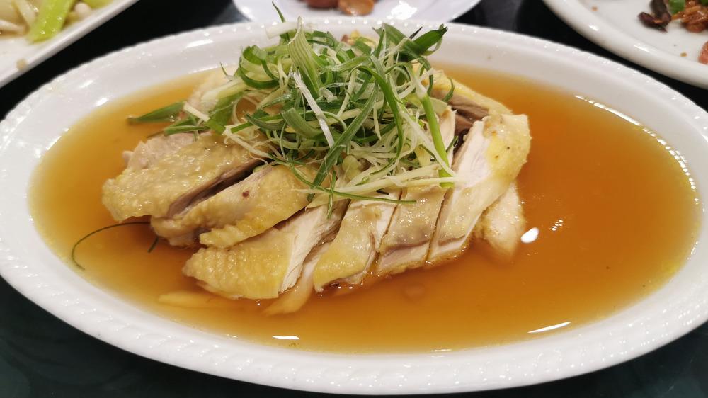 Drunken chicken, made with Shaoxing wine