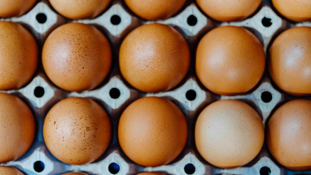A flat of eggs