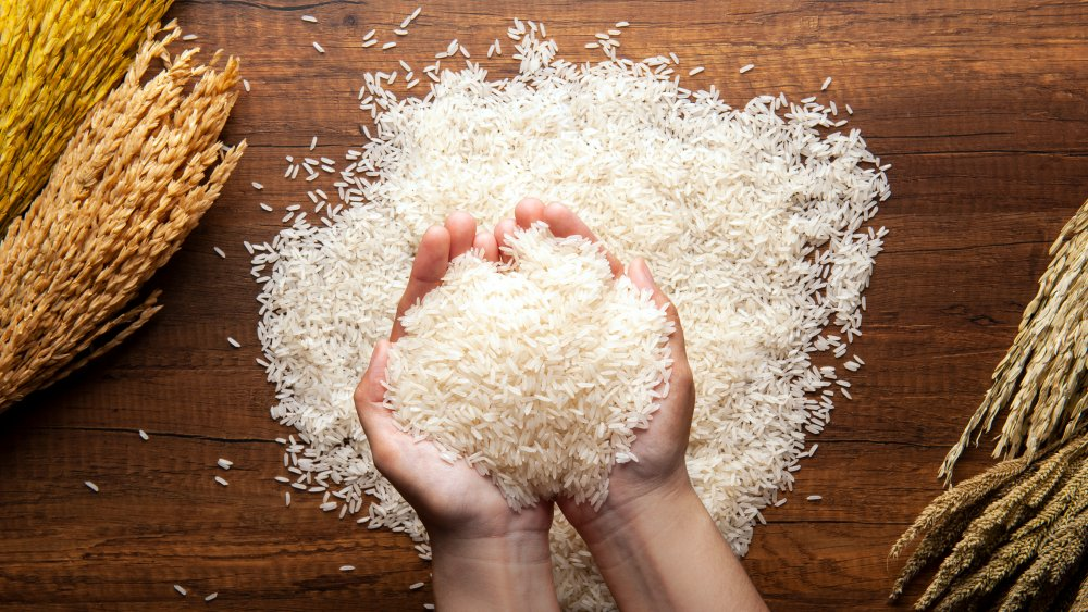 A handful of rice
