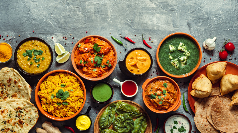Spread of Indian food