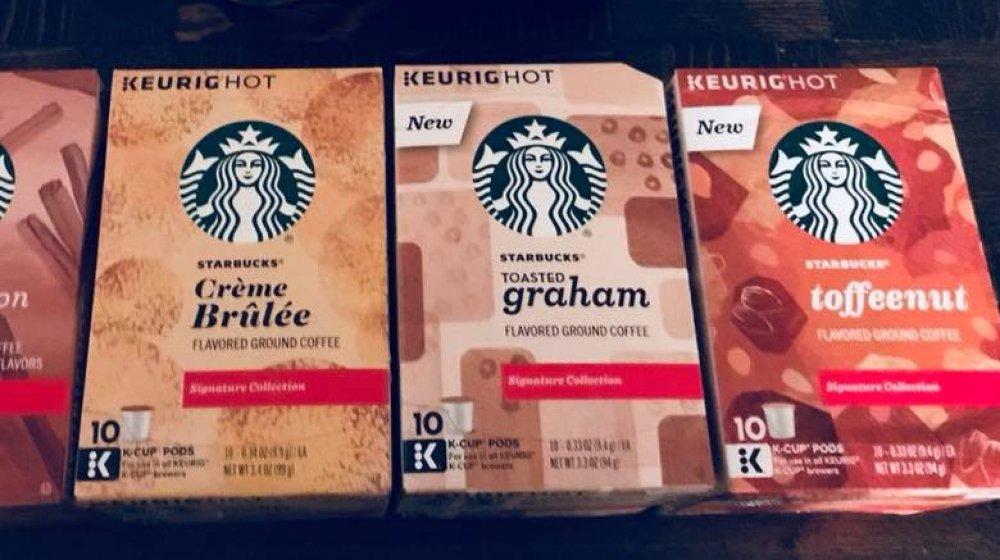 Starbucks flavored K-cups