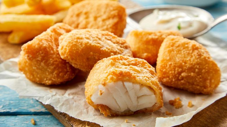 Fried fish chunks