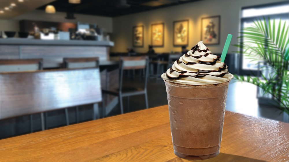 Starbucks frappuccino with whipped cream