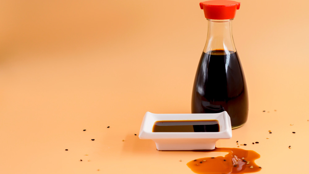 bottle of soy sauce