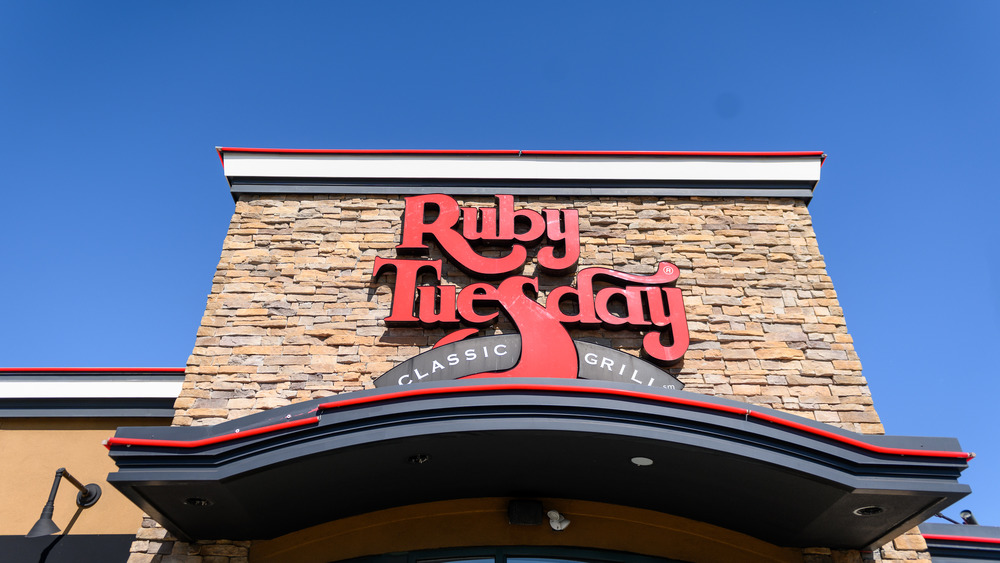Front entrance of Ruby Tuesday