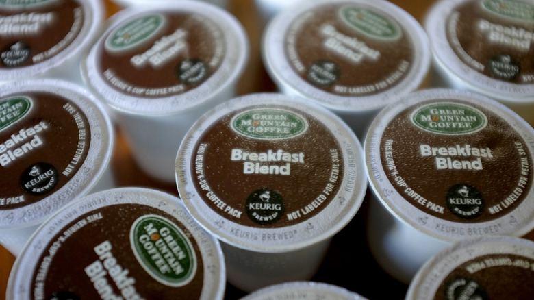 Single-use K-cup coffee pods