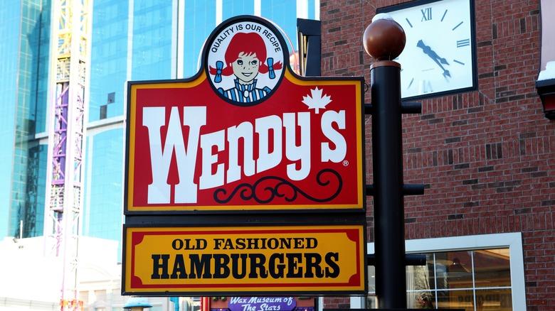 Wendy's signage