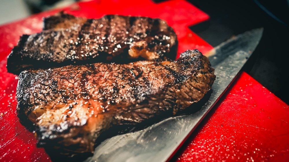 Well-done steak