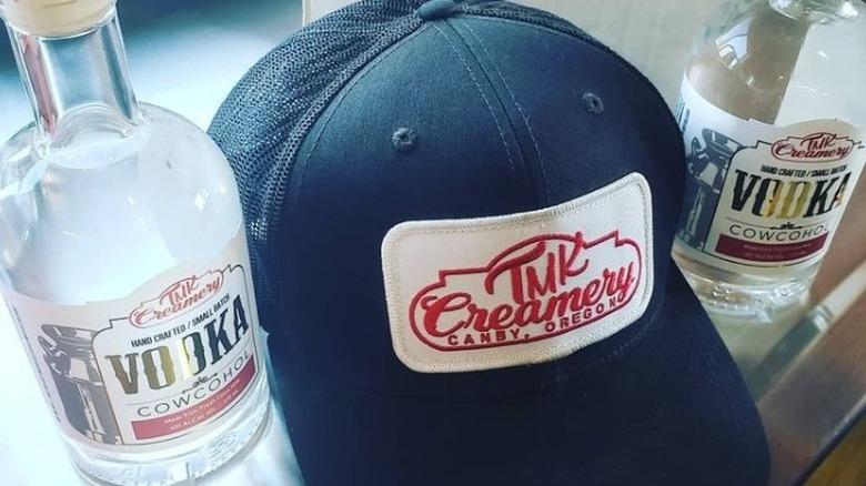 TMK Creamery Vodka and hat