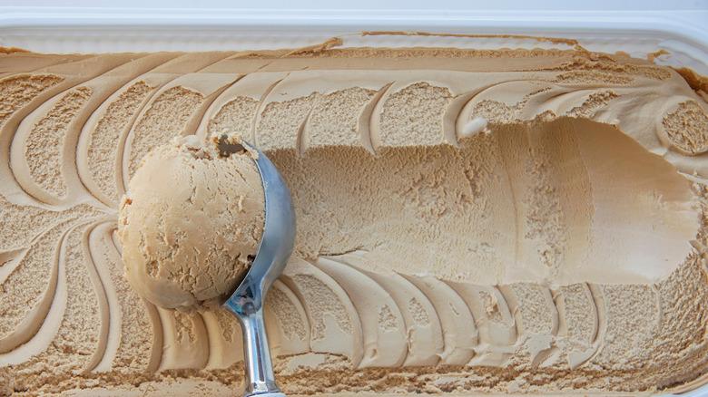 Ice cream being scooped