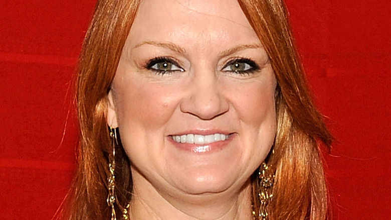 Ree Drummond against red wall