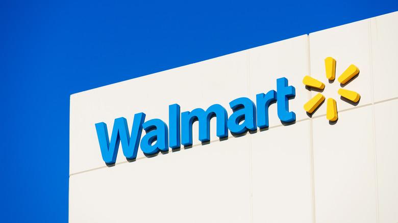 Walmart logo and sign