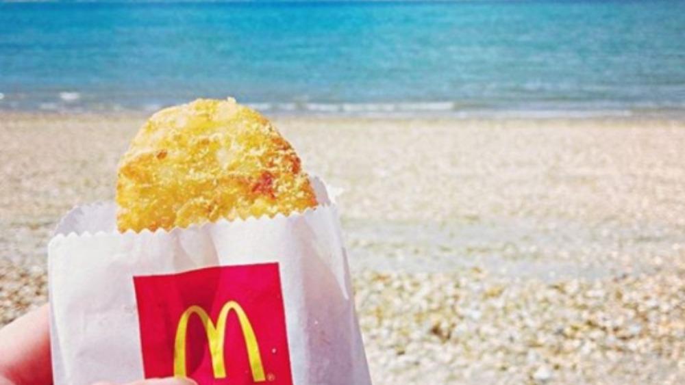 McDonald's Hashbrown at the beach