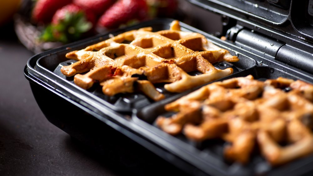 A generic photo of waffles in a waffle maker