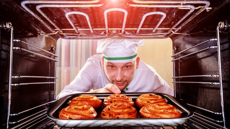 chef in oven