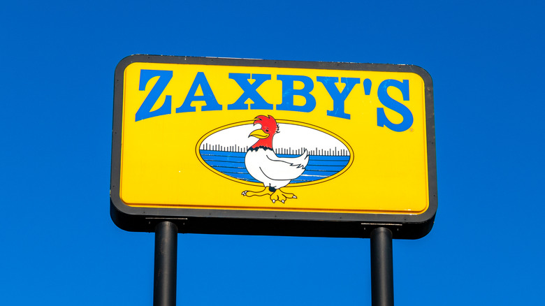 Zaxby's sign against a blue sky