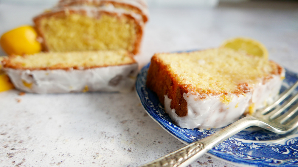 slice of lemon pound cake