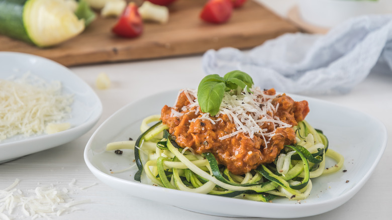 Zucchini noodles, or Zoodles.